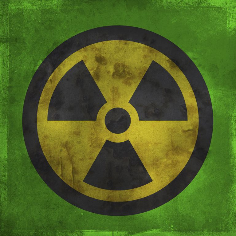 This is the warning symbol for radioactivity.