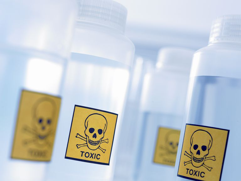 The skull and crossbones is the symbol for a toxic chemical.