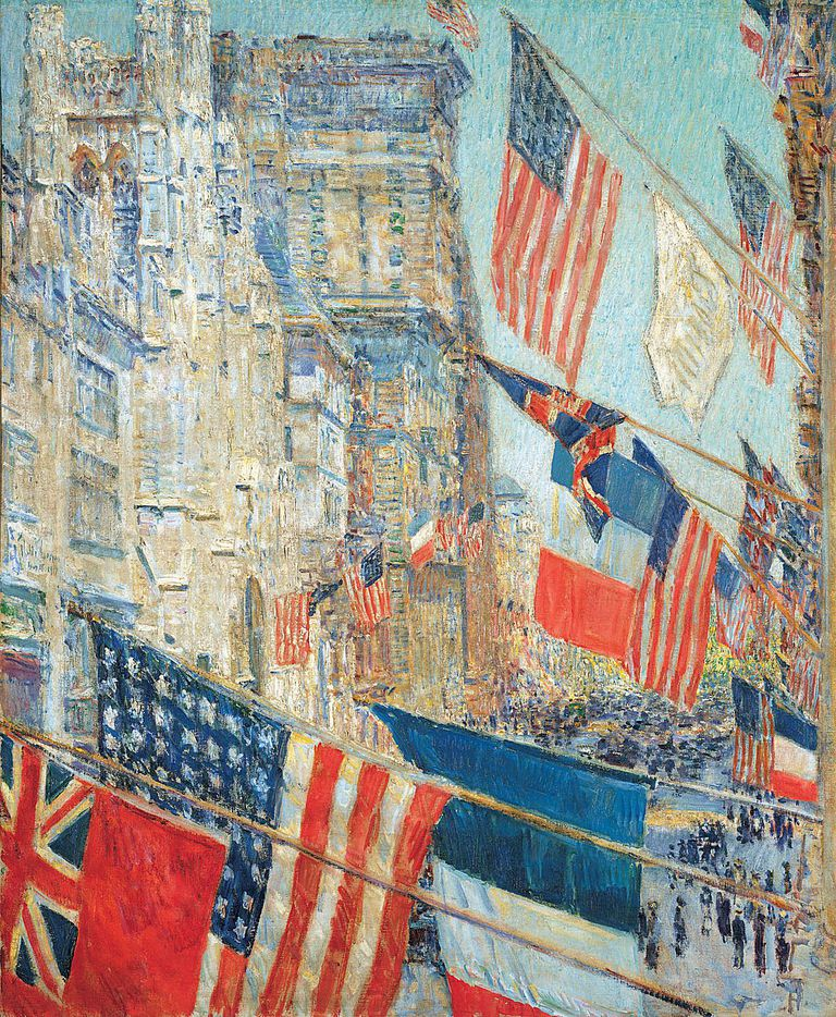 Childe Hassam (American, 1859–1935). Allies Day, May 1917, 1917.