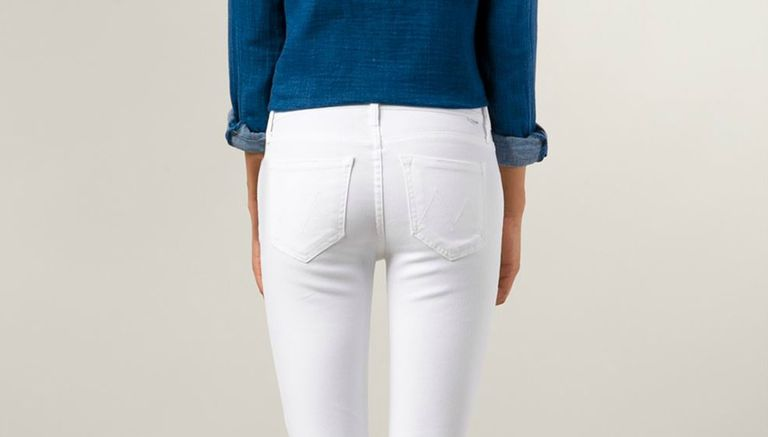 Mother The Charmer White Jeans