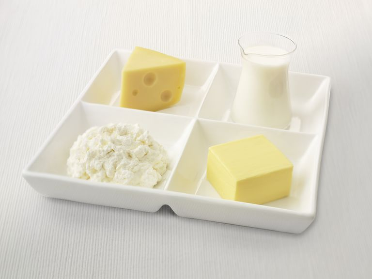 Dairy products are high in calcium.
