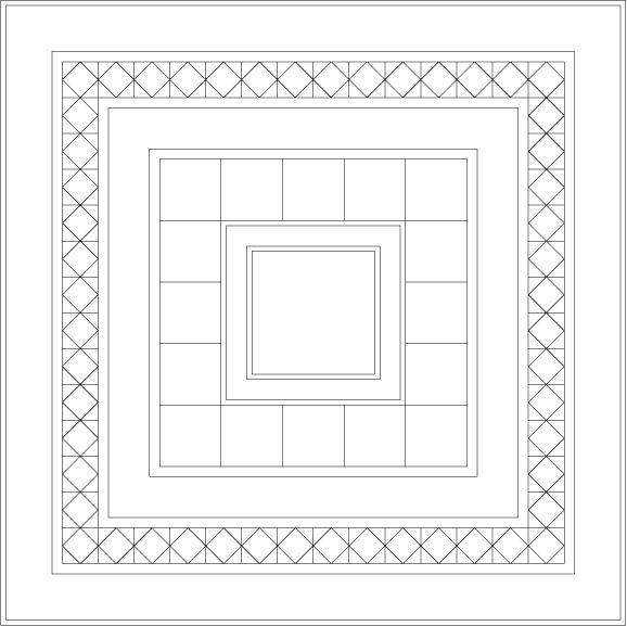 Medallion Sampler Quilt Layout Drawing