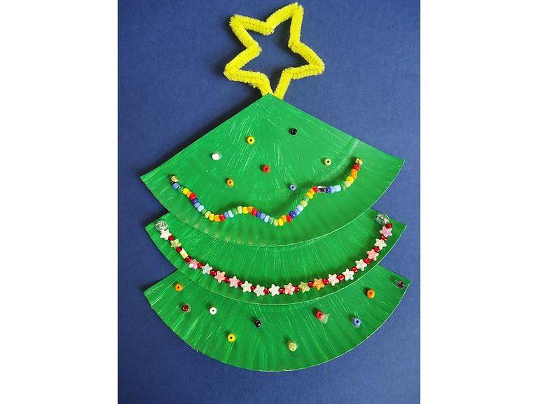 6 adornos para navidad con platos desechables - Adornos navidenos ninos ...