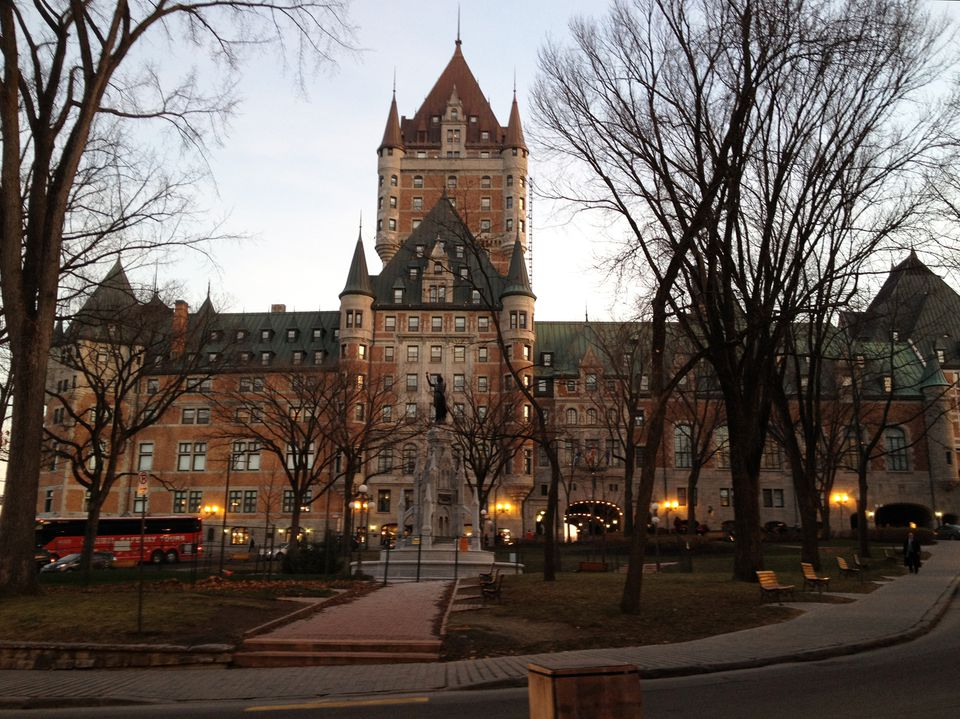 chateau frontenac twilight