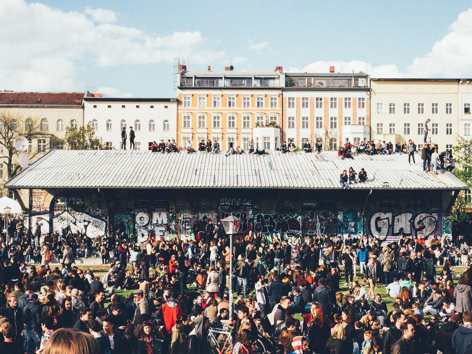 Berlin May Day at Görlitzer Park