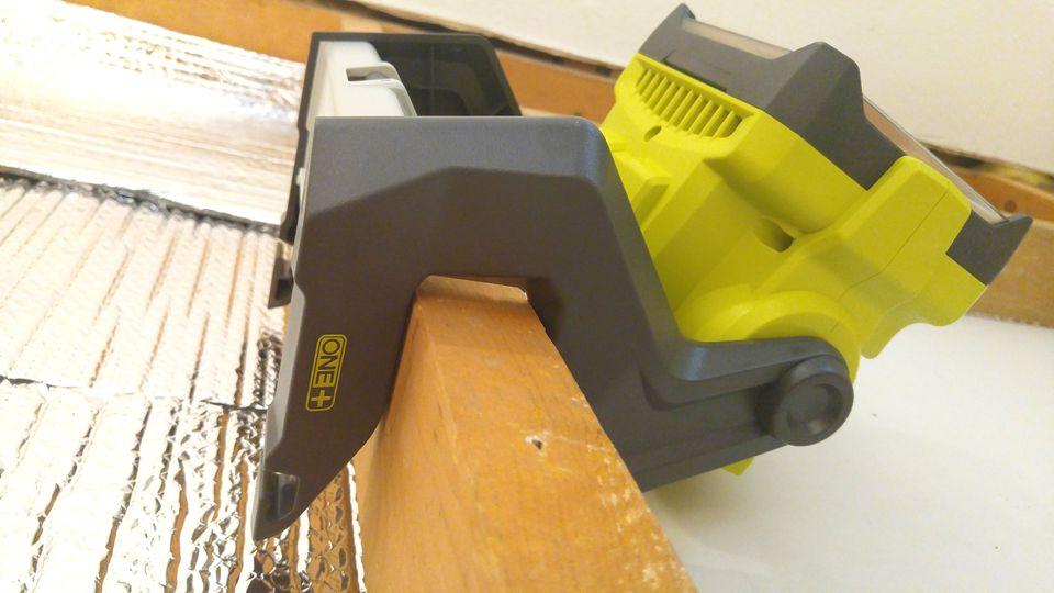 RYOBI 18V ONE+ Dual Power 20 Watt LED Worklight Clips To 2x4s