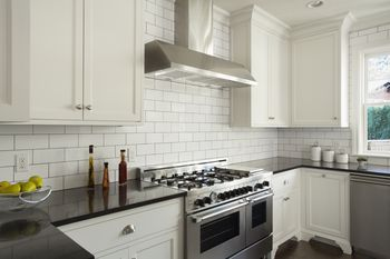 Subway Tile Kitchens want bold colors? install blue glass subway tile backsplash