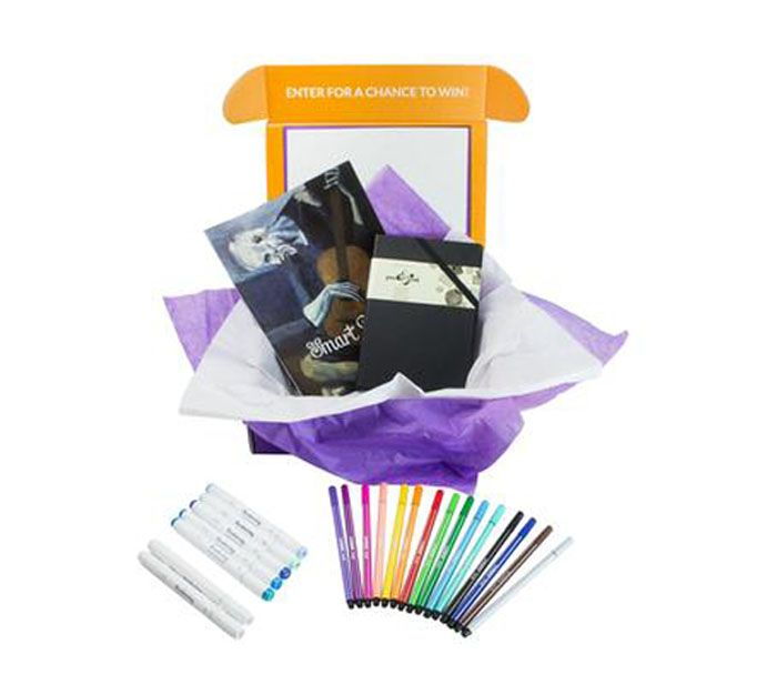 smart art craft subscription box with markers