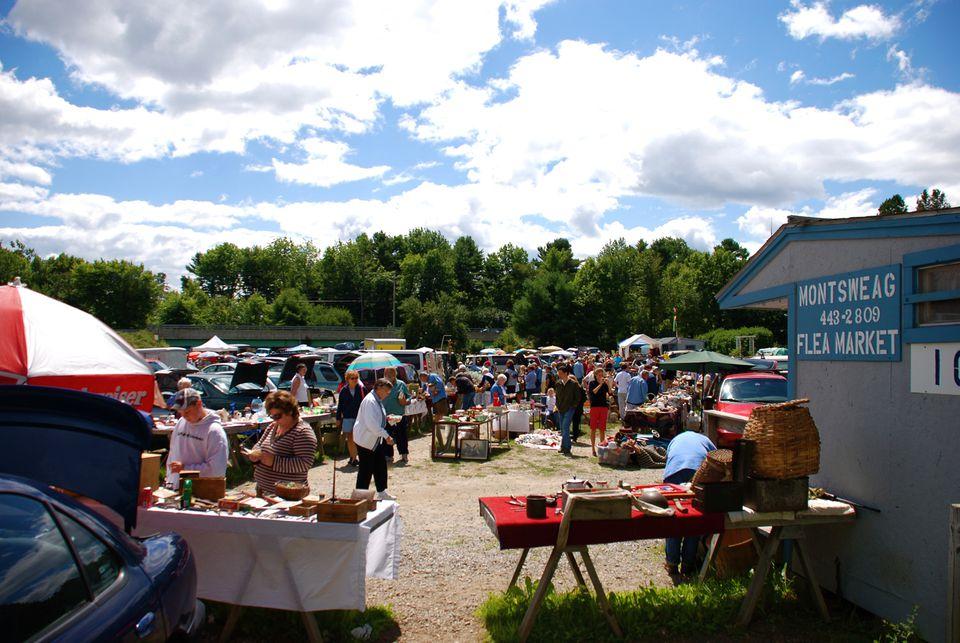 Montsweag Flea Market in Maine