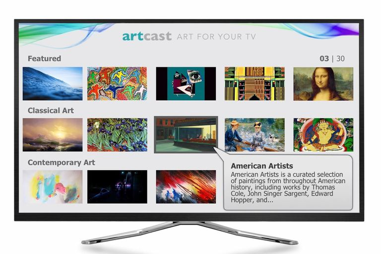 The Artcast Lite Menu