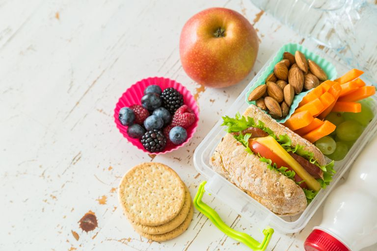 Healthy lunch with different foods
