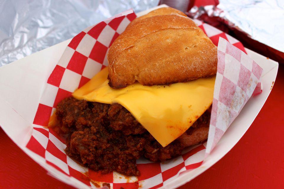Sloppy Joe slider with American Cheese