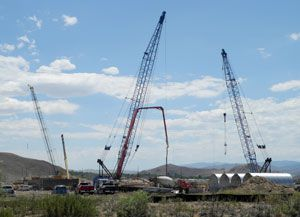SouthEast Connector - Phase 1 bridge construction at the Truckee River
