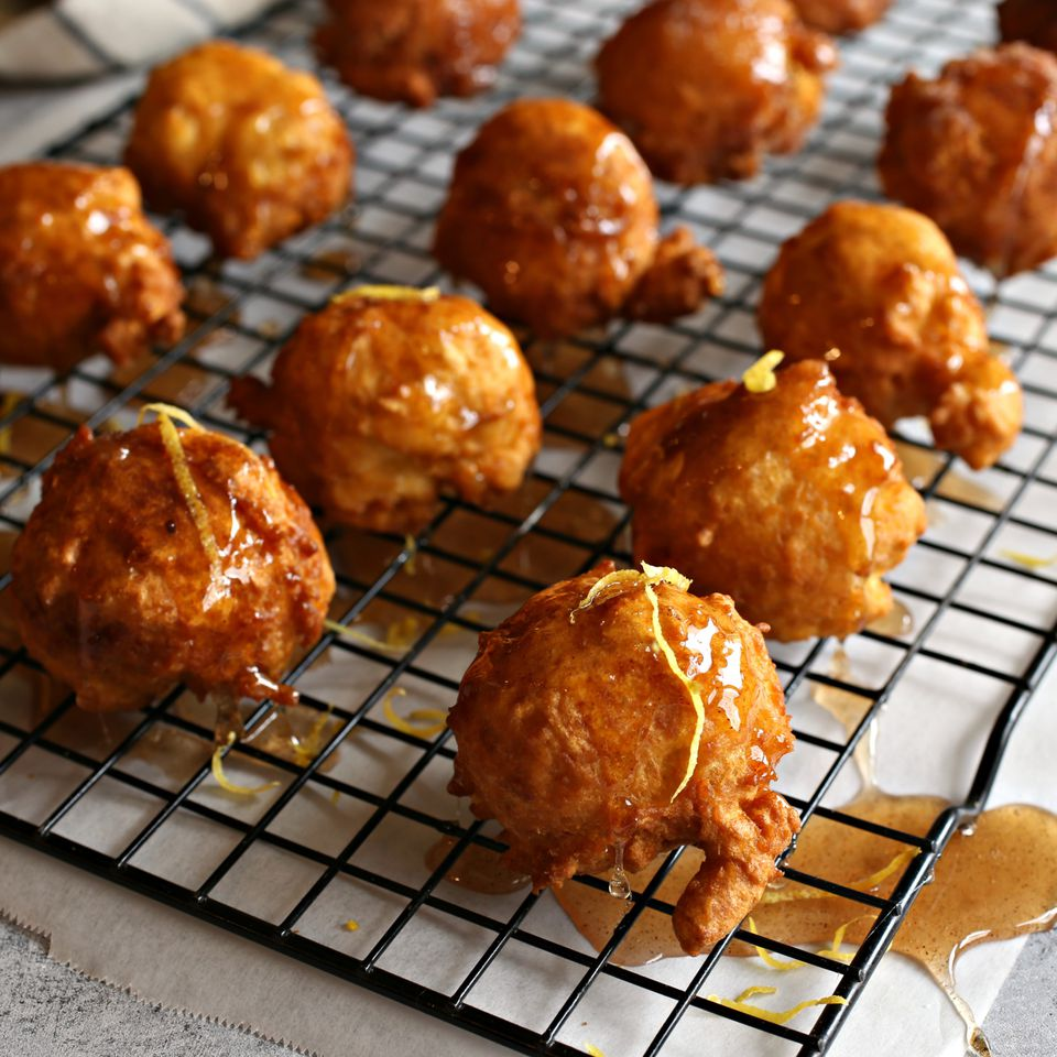 Lgeimat (Saffron and Cardamom Fritters)