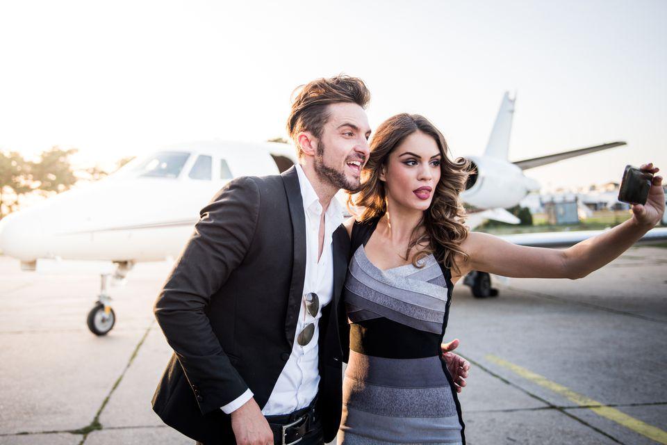 sexy couple plane