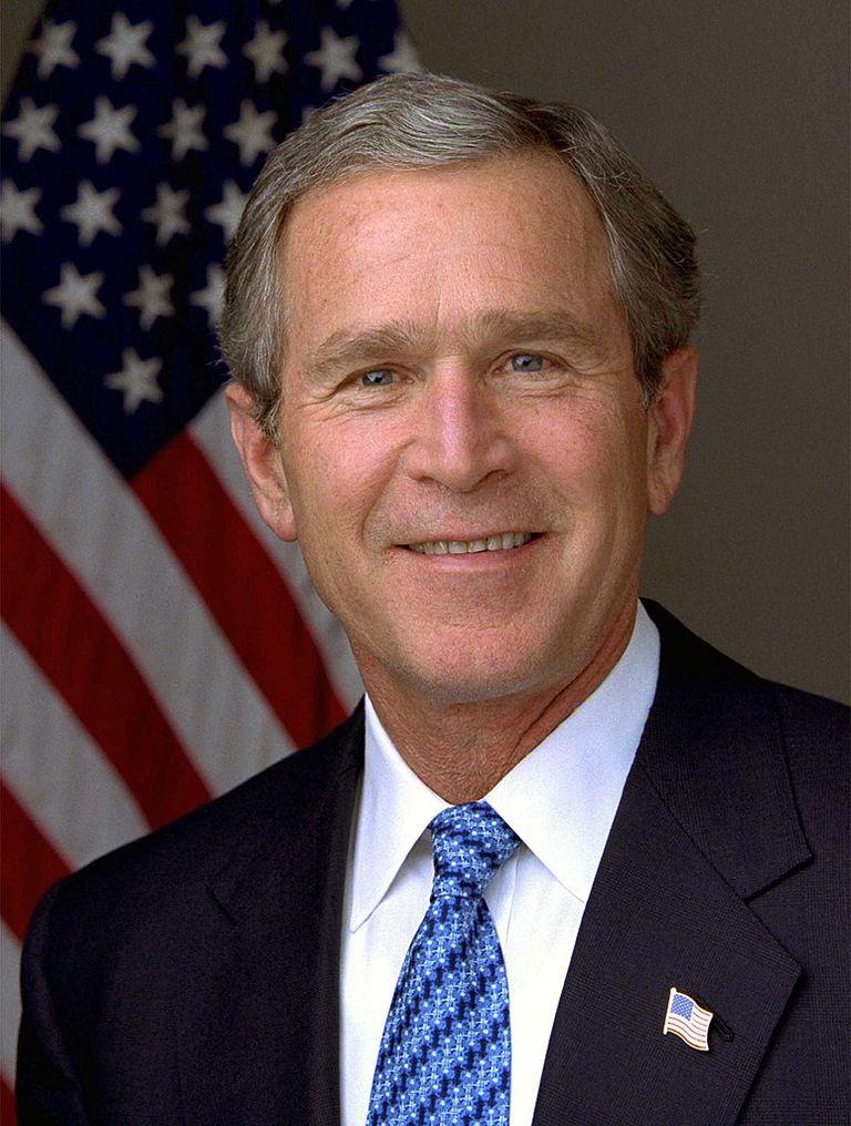Presidential portrait of George W. Bush.