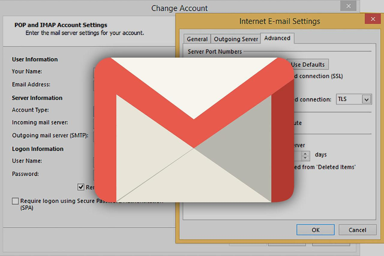 setting up gmail in outlook