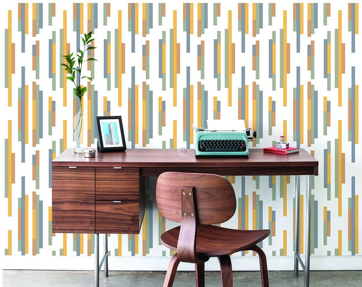 swanky retro patterned temporary wallpaper
