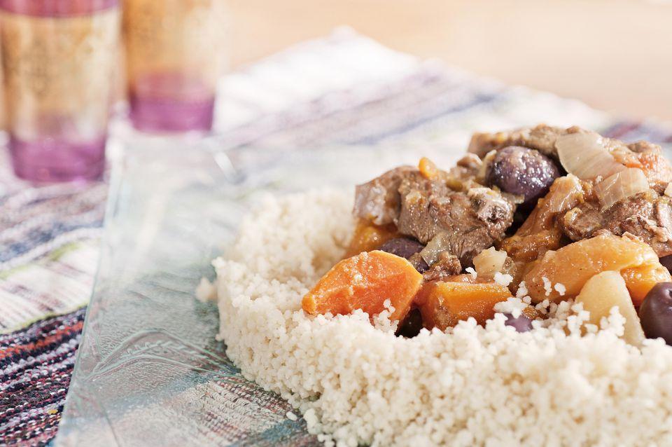 lamb tajine with couscous