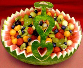 Watermelon fruit basket carving recipe food cooking receipt