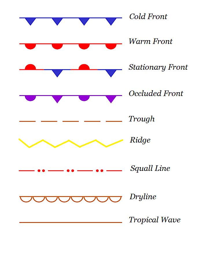 Weather Map Symbols Hurricane
