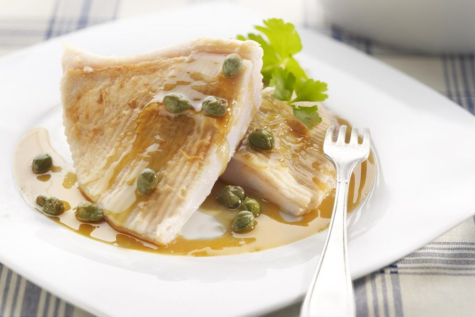 Skate Wing with brown butter