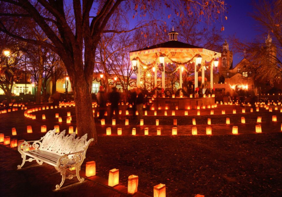 Luminarias in Albuquerque