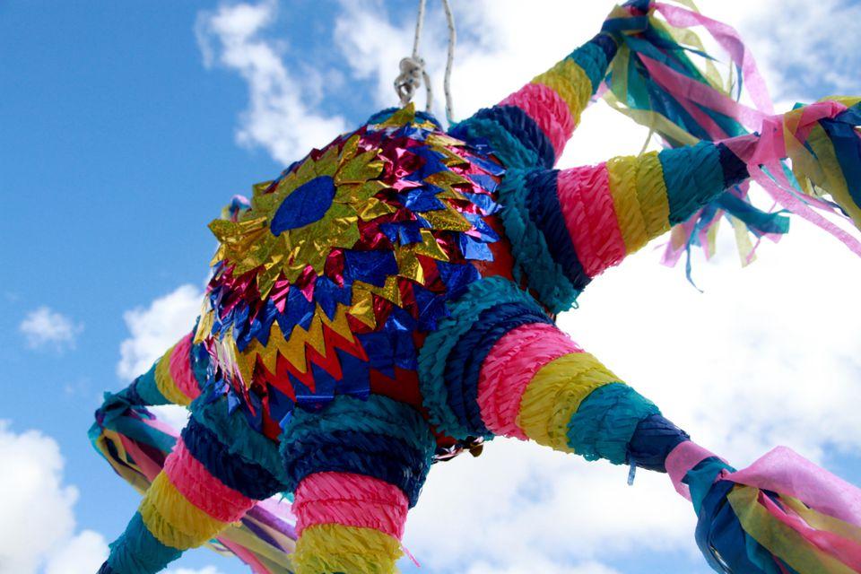 A traditional piñata