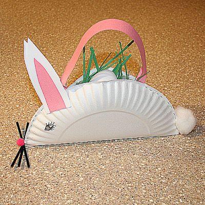 Bunny Easter Basket Craft