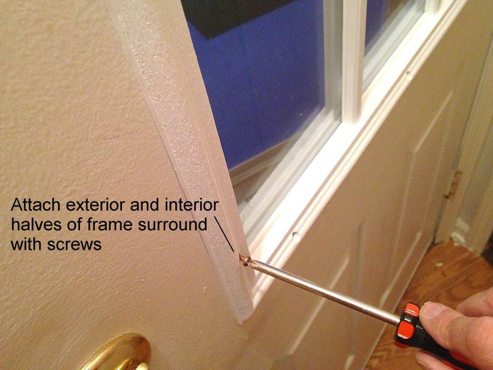 attached window to door