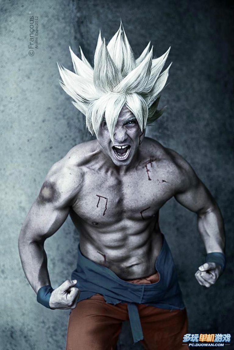 Six Muscular Male Dragon Ball Anime Cosplayers  Six Muscular Ma...