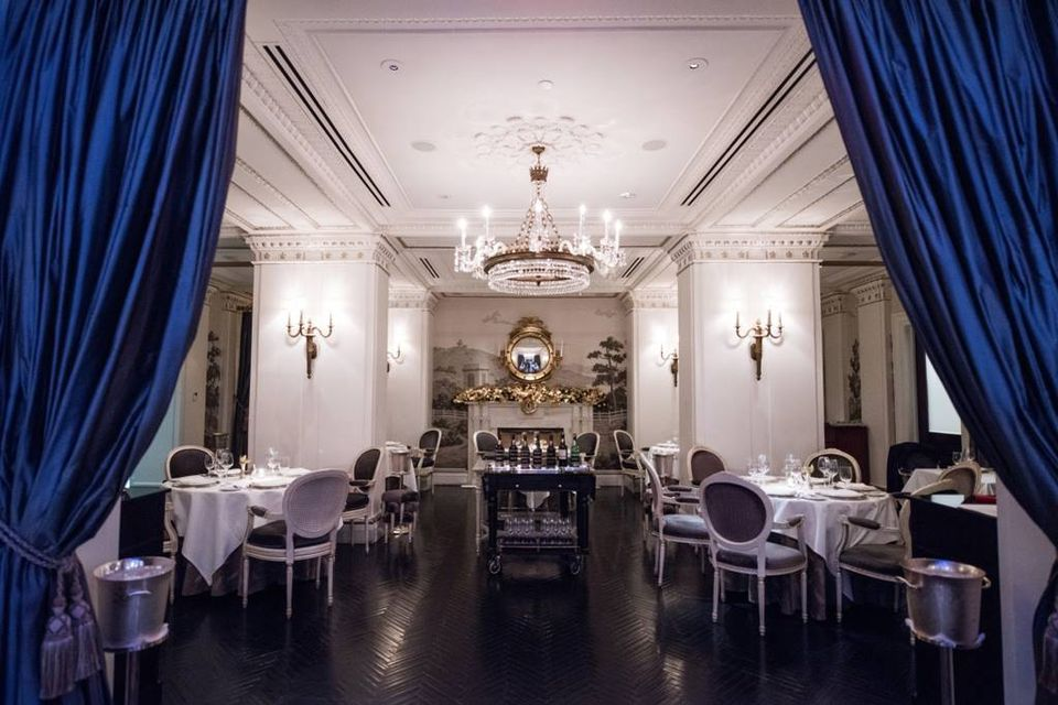 The festive dining room at Plume