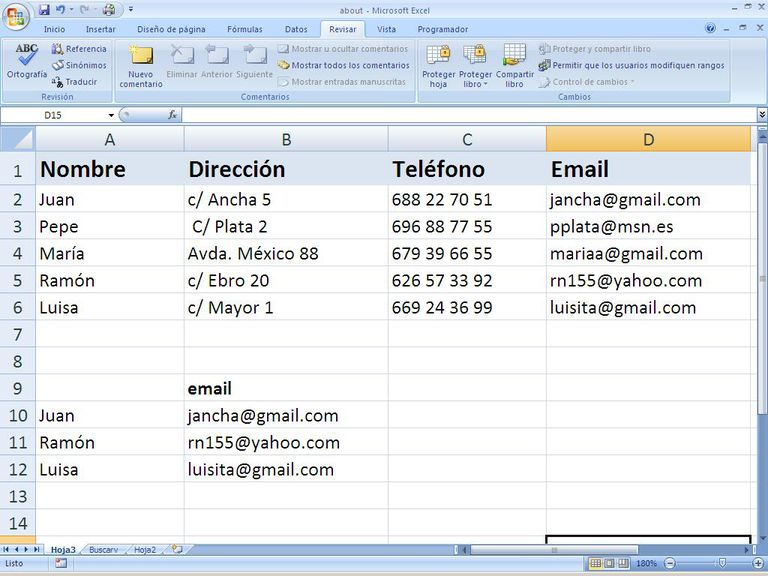 Funcion BuscarV en Excel