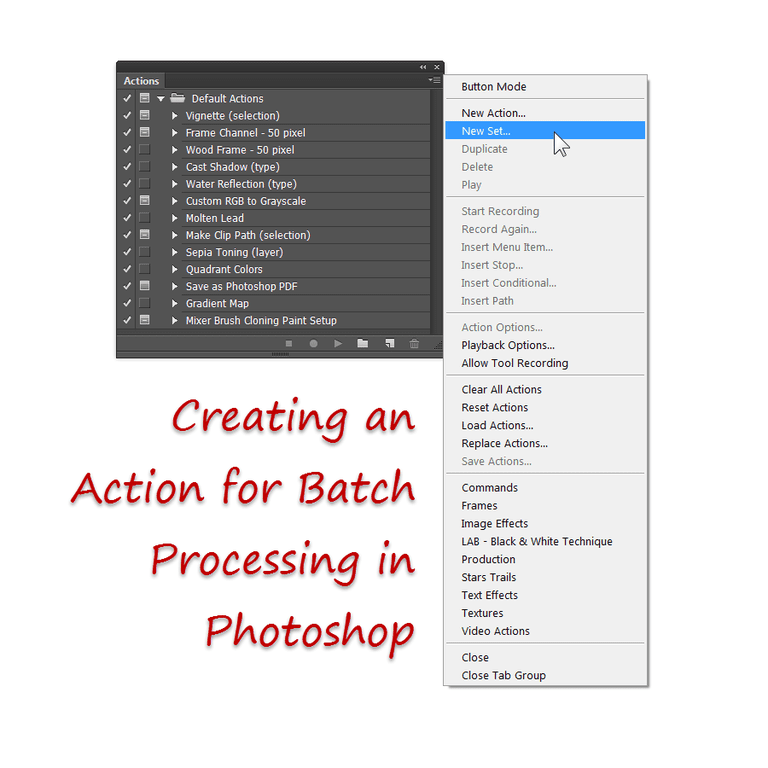 The Actions Palette in Photoshop