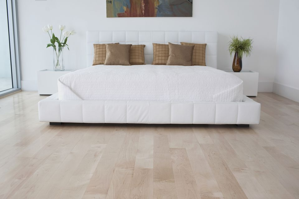 interiors of a bedroom - Bedroom Laminate Flooring