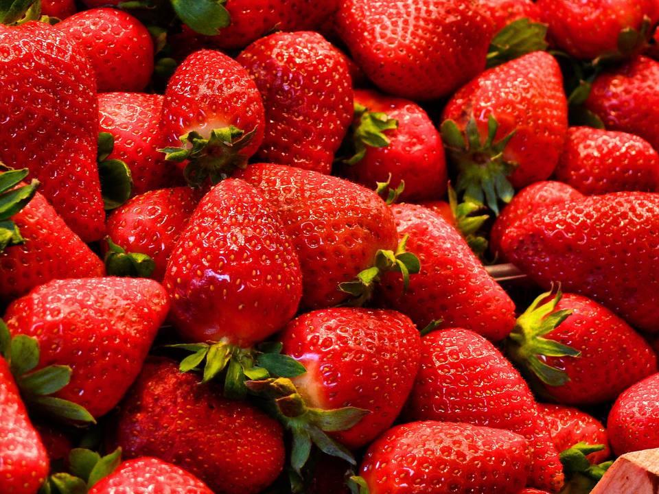 Strawberry in Boqueria market