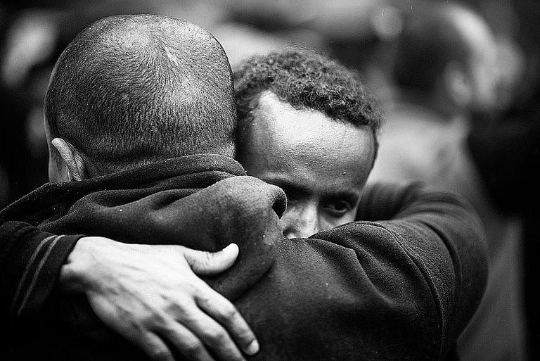 Friends Embrace