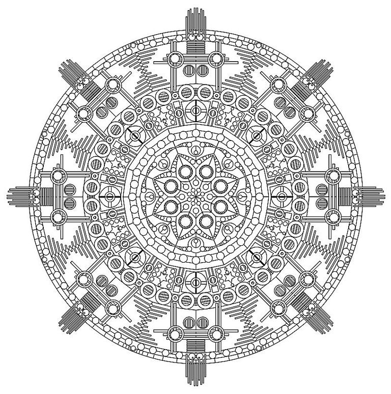 an intricate mandala coloring sheet - Intricate Mandalas Coloring Pages