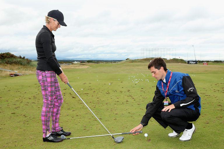 Amateur golfer gets a lesson