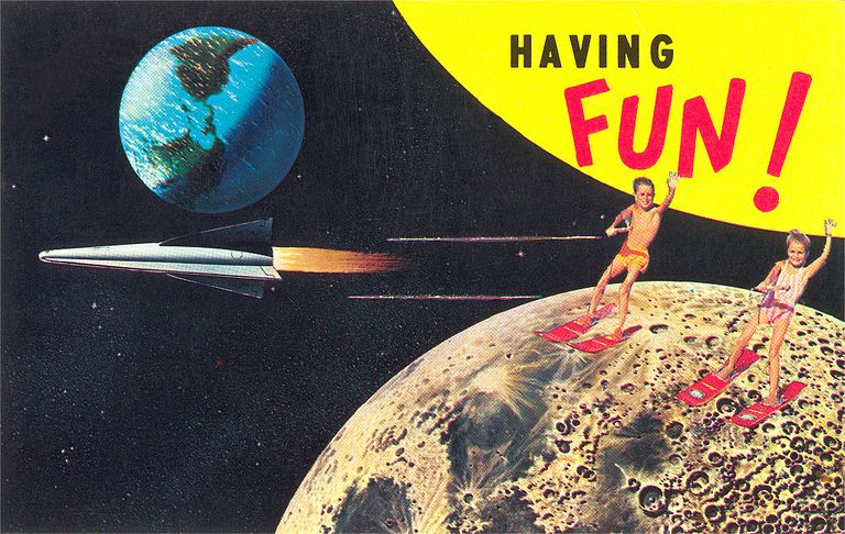 Water Skiing on the Moon, Having Fun