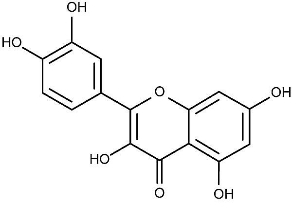 This is the chemical structure of quercetin.