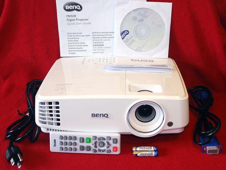 BenQ MH530 1080p 3D DLP Video Projector - Package Contents