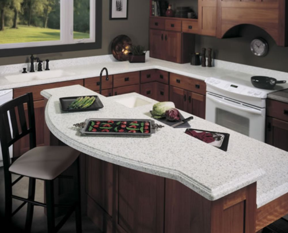 Kitchen Counter Decor Staging