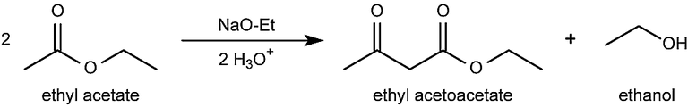 This is the acetoacetic-ester condensation reaction.