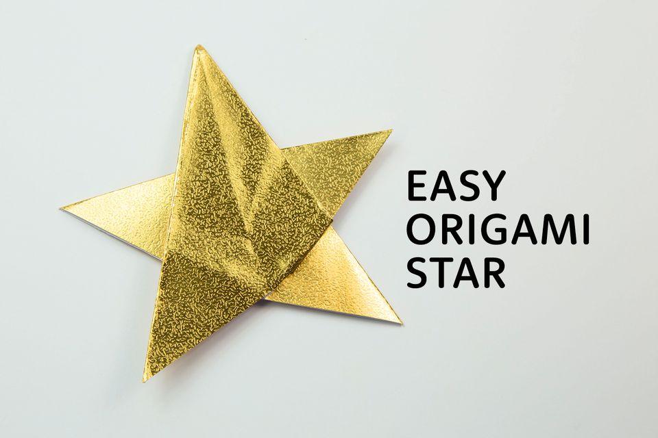easy origami star tutorial 01