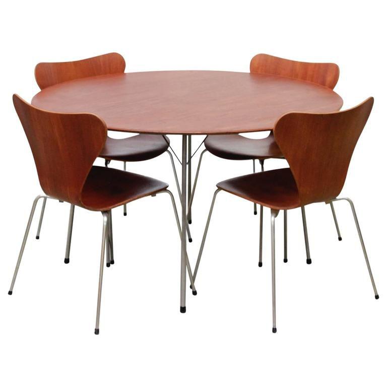 Dining Set by Arne Jacobsen for Fritz Hansen, 1950s