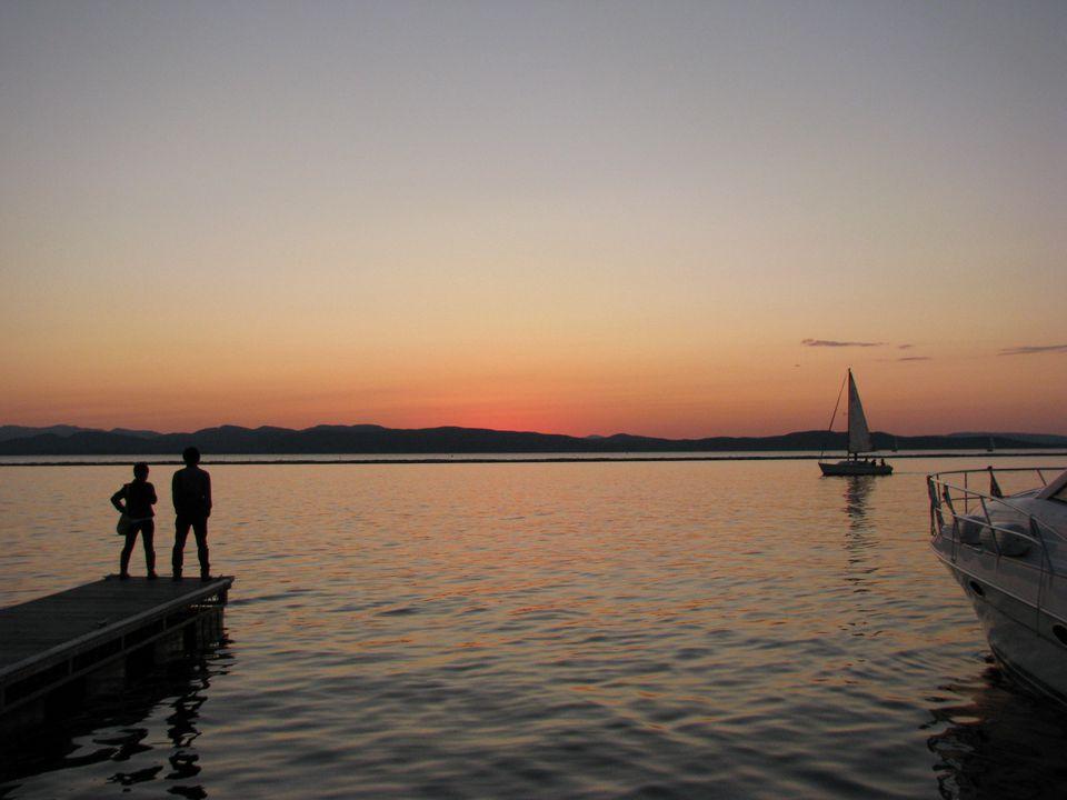 Burlington, Vermont waterfront on Lake Champlain