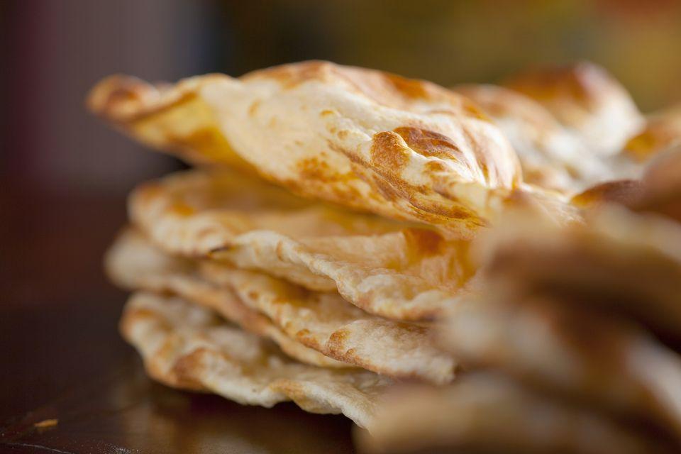 India, Spicy bread, close-up
