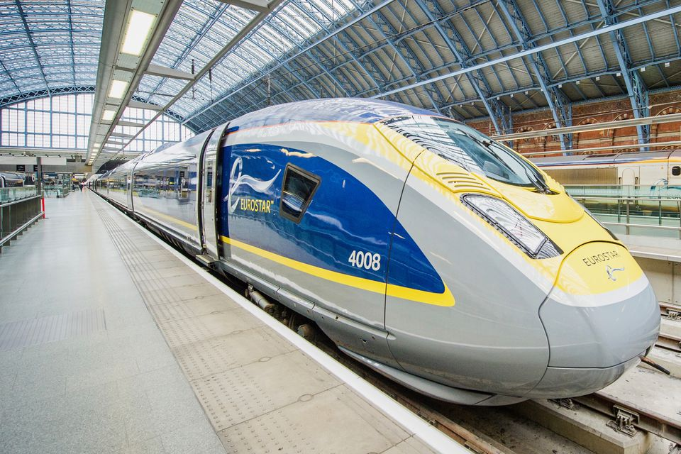 Eurostar train in the station