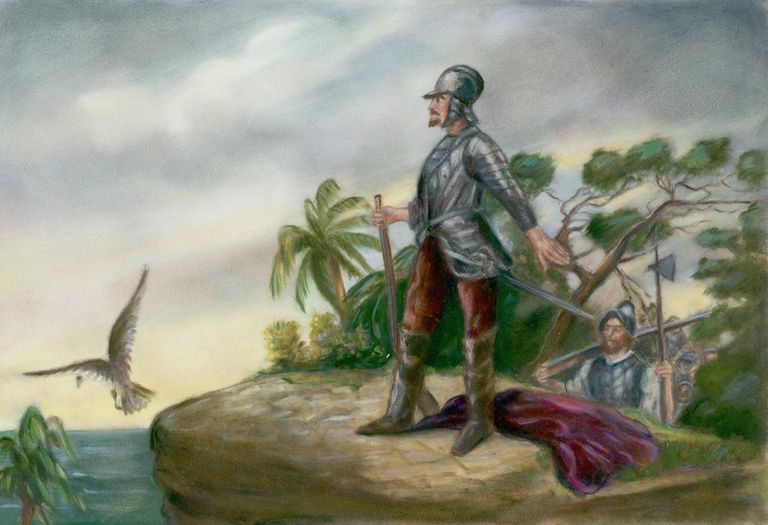 Balboa's Discovery of the Pacific by Clyde O. De Land